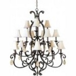 Maxim Fifteen Light Colonial Umber Up Chandelier - 31007CU/CRY095