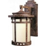Maxim One Light Sienna Mocha Glass Wall Lantern - 86033MOSE