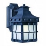 Maxim One Light Country Forge Frosted Seedy Glass Wall Lantern - 86081FSCF