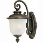 Maxim One Light Chocolate Frost Crackle Glass Wall Lantern - 86295FCCH