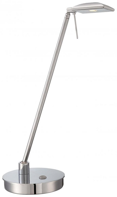 Chrome 1 Light LED Desk Lamp in Chrome from the Georgeft.s Reading Room-Tablet Collection