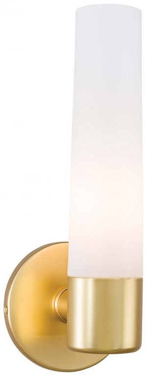 Minka George Kovacs One Light Cased Etched Opal Glass Honey Gold Bathroom Sconce - P5041-248