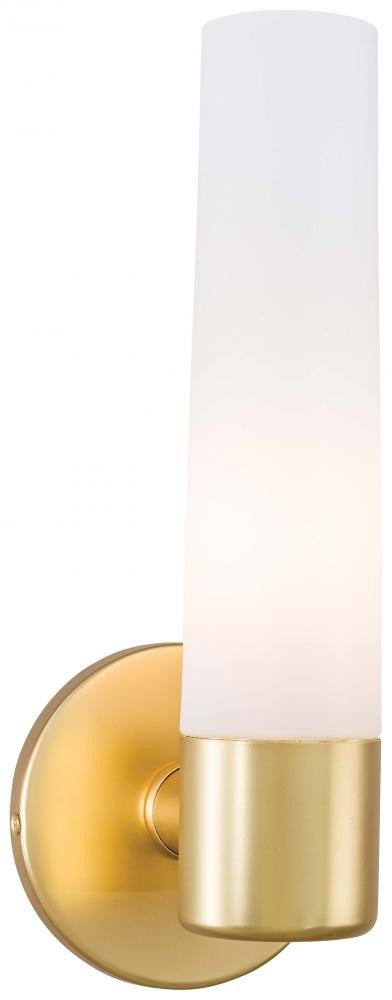 Honey Gold 1 Light 4.75in. Width Bathroom Sconce in Honey Gold from the Saber Collection