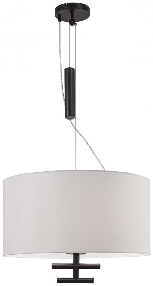 Minka George Kovacs Black Drum Shade Pendant - P543-617