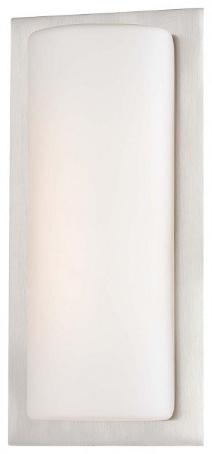 Minka George Kovacs Thirty Light Brushed Aluminum Etched Opal Glass Wall Light - P561-144A-L
