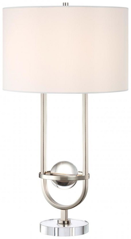 Polished Nickel 1 Light 30In. Height Accent Table Lamp