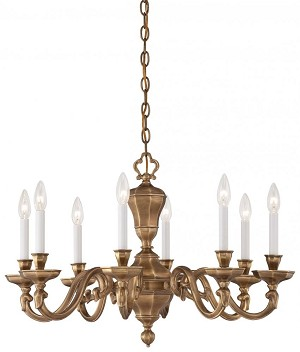 Minka Metropolitan Vintage English Patina Up Chandelier - N1115-046