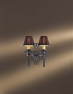 Minka Metropolitan French Black W/gold Highlights Presented W/optional Shade-sh1922 Shade Wall Light - N2109-20