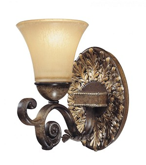 Minka Metropolitan Avorio Mezzo Glass Bathroom Sconce - N2501-242