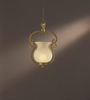Minka Metropolitan One Light Double French Scavo Glass Up Pendant - N6131-34