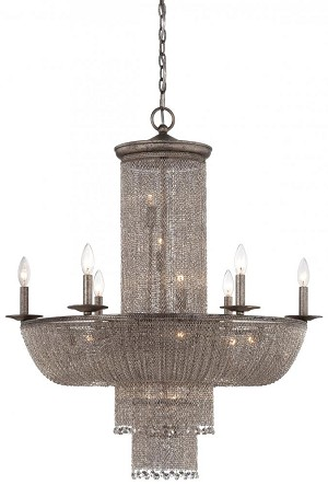 Minka Metropolitan Sixteen Light Antique Silver Up Chandelier - N7216-578