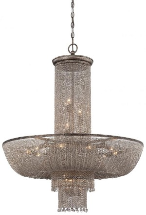 Minka Metropolitan Eighteen Light Antique Silver Up Chandelier - N7218-578