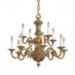 Minka Metropolitan Antique Brass Up Chandelier - N700212