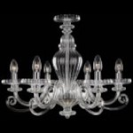 Minka Metropolitan Six Light Chrome Clear Glass Up Chandelier - N9166