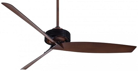 Black / Rosewood 62In. 3 Blade Indoor Ceiling Fan With Blades Included