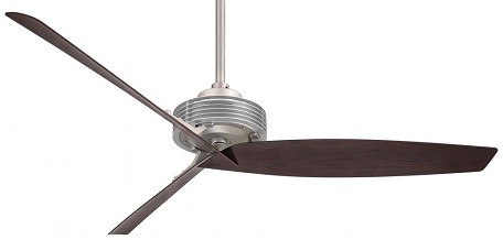 Brushed Steel / Brushed Nickel 62In. 3 Blade Indoor Ceiling Fan With Blades Included