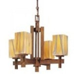 Minka-Lavery Four Light Bronze Up Chandelier - 4254-208