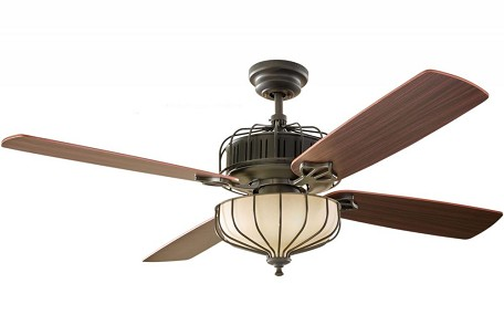Monte Carlo Three Light Bronze Ceiling Fan - 4AIR52DBD
