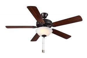 Monte Carlo Two Light Bronze Ceiling Fan - BF2-BZ