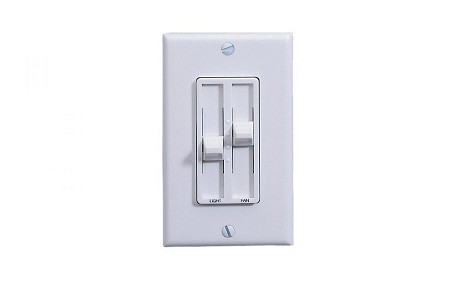 Monte Carlo White Fan Wall Mount Control - ESSWC-4-WH