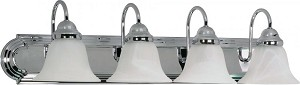 Nuvo Ballerina - 4 Light - 30'' - Vanity - w/ Alabaster Glass Bell Shades - 60/318