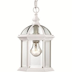 Nuvo Boxwood - 1 Light - 14'' Outdoor Hanging W/ Clear Beveled Glass - 60/4977