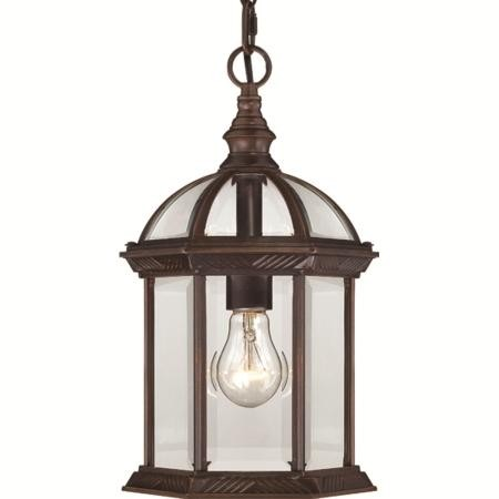 Nuvo Boxwood - 1 Light - 14'' Outdoor Hanging W/ Clear Beveled Glass - 60/4978