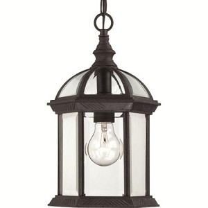 Nuvo Boxwood - 1 Light - 14'' Outdoor Hanging W/ Clear Beveled Glass - 60/4979