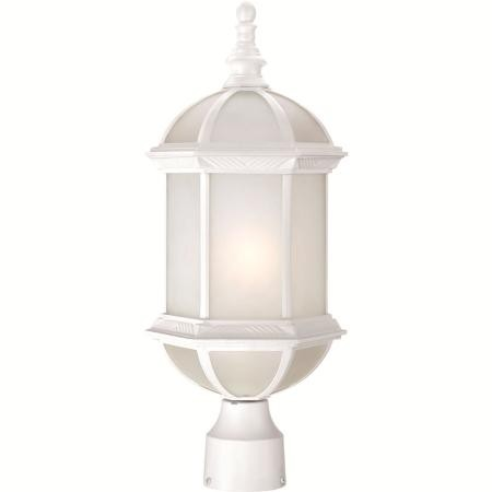 Nuvo Boxwood ES - 1 Light - 19'' Outdoor Post W/ Frosted Glass - (1) 18W GU24 Base Lamp Included - 60/4994