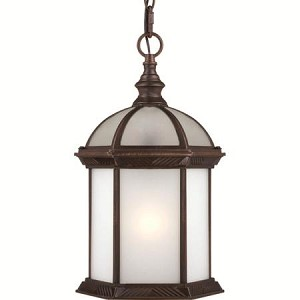 Nuvo Boxwood ES - 1 Light - 19''Outdoor Hang W/ Frosted Glass - (1) 18W GU24 Base Lamp Included - 60/4998