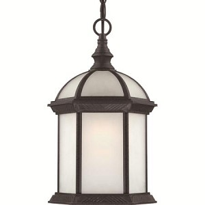 Nuvo Boxwood ES - 1 Light - 19''Outdoor Hang W/ Frosted Glass - (1) 18W GU24 Base Lamp Included - 60/4999