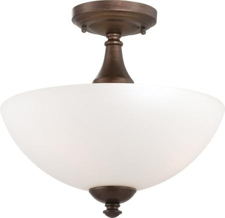 Nuvo Patton ES - 3 Light Semi Flush w/ Frosted Glass - (3) 13w GU24 Lamps Included - 60/5164