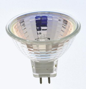Satco Products Inc. 20 watt halogen; MR16; BAB; 2000 average rated hours; Miniature 2 Pin Round base; 12 volts - S1956