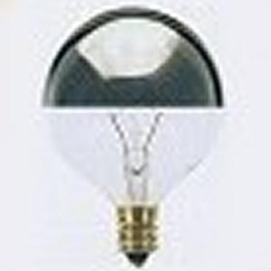 Satco Products Inc. 60 watt; G16 1/2; Silver Crown; 1500 average rated hours; 672 lumens; Candelabra base; 120 volts - S3246