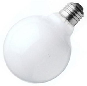 Satco Products Inc. 25 watt; G25; Gloss White; 3000 average rated hours; 160 lumens; Medium base; 120 volts - S3440