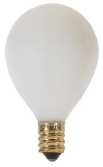 Satco Products Inc. 15 watt; G12 1/2 Pear; Satin White; 1500 average rated hours; 100 lumens; Candelabra base; 120 volts - S3750