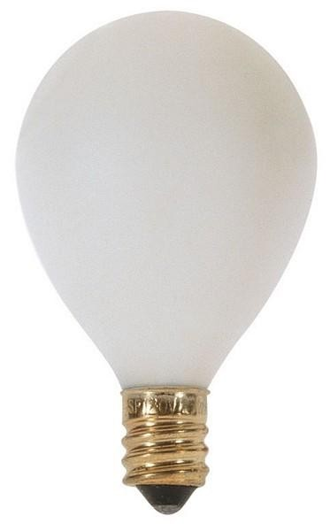 Satco Products Inc. 25 watt; G12 1/2 Pear; Satin White; 1500 average rated hours; 202 lumens; Candelabra base; 120 volts - S3751