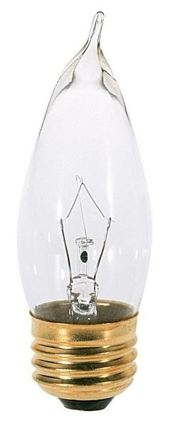 Satco Products Inc. 60 watt; CA10; Clear; 1500 average rated hours; 640 lumens; Medium base; 120 volts - S3766