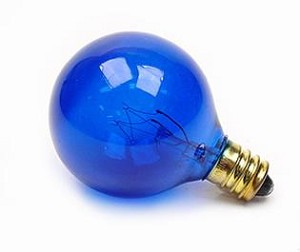 Satco Products Inc. 10 watt; G12 1/2; Transparent Blue; 1500 average rated hours; Candelabra base; 120 volts - S3834