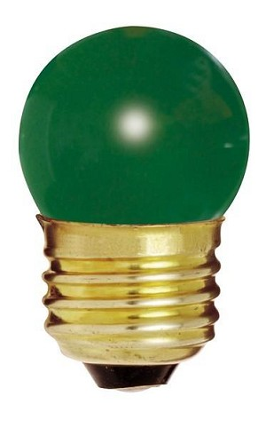 Satco Products Inc. 7.5 watt; S11; Ceramic Green; 2500 average rated hours; Medium base; 120 volts - S4509
