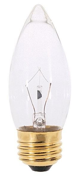 Satco Products Inc. 40 watt; B10; Fan Bulb Clear; 2000 average rated hours; 300 lumens; Medium base; 120 volts - S4740