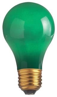 Satco Products Inc. 25 watt; A19; Ceramic Green; 1000 average rated hours; Medium base; 130 volts - S6091