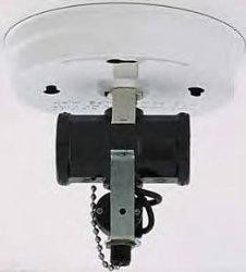Satco Products Inc. TWIN CLUSTER CEILING HLDR W/SWITCH-WHITE - S70-235