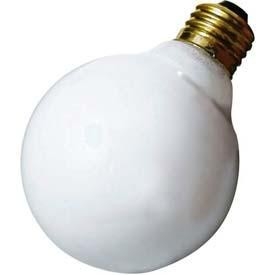 Satco Products Inc. 25 watt; G25; Gloss White; 3000 average rated hours; 160 lumens; Medium base; 130 volts - A3640