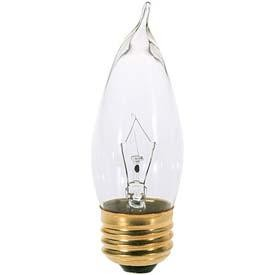 Satco Products Inc. 40 watt; CA10; Clear; 1500 average rated hours; 370 lumens; Medium base; 120 volts - S3265