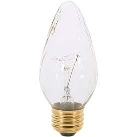 Satco Products Inc. 40 watt; F15; Amber; 1500 average rated hours; Medium base; 120 volts - S3370