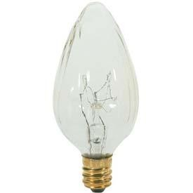 Satco Products Inc. 25 watt; F10; Clear; 1500 average rated hours; 195 lumens; Candelabra base; 120 volts - S3371