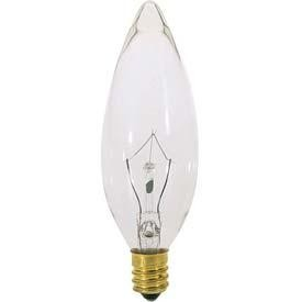 Satco Products Inc. 60 watt; B10; Clear; 1500 average rated hours; 650 lumens; European base; 120 volts - S3392