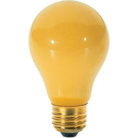 Satco Products Inc. 40 watt; A19; Yellow; 2000 average rated hours; Medium base; 130 volts - S3859