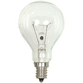 Satco Products Inc. 60 watt; A15; Clear; 1000 average rated hours; 700 lumens; Candelabra base; 130 volts - S4162